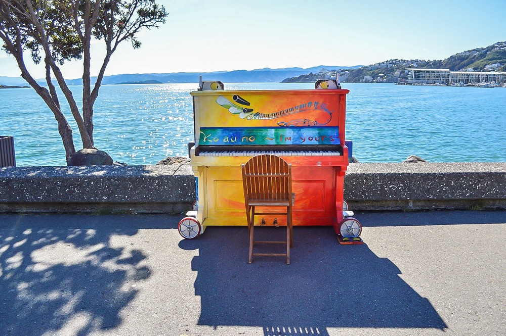 Public pianos had made their way to Wellington!