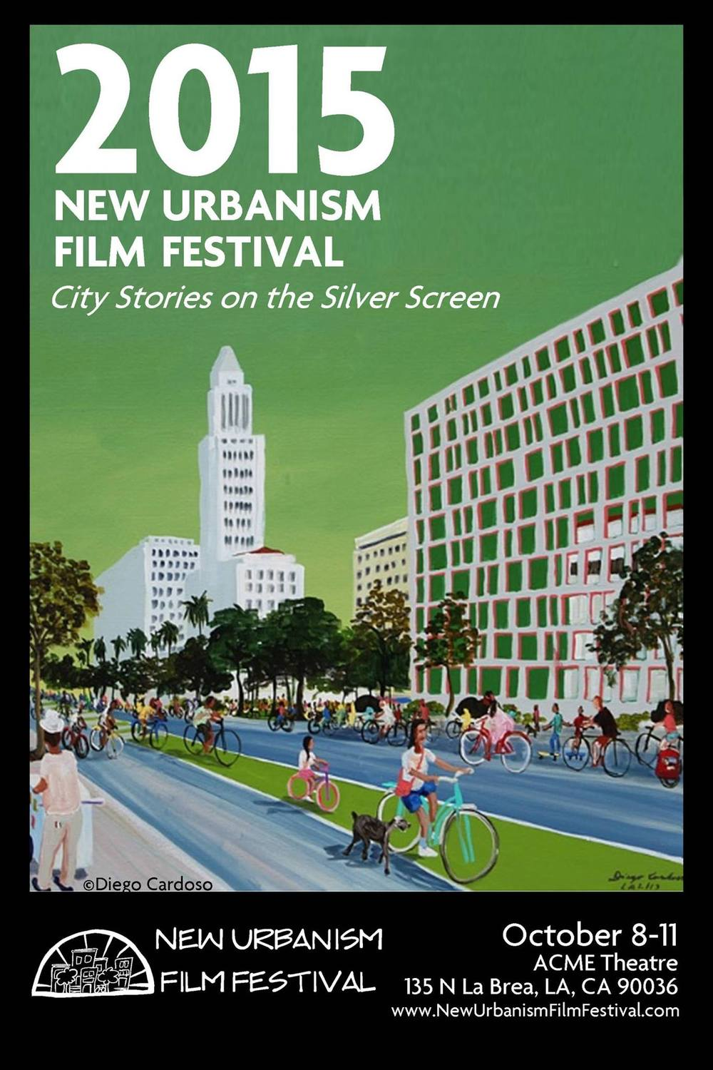 Poster for the 3rd annual New Urbanism Film Festival in Los Angeles, CA.