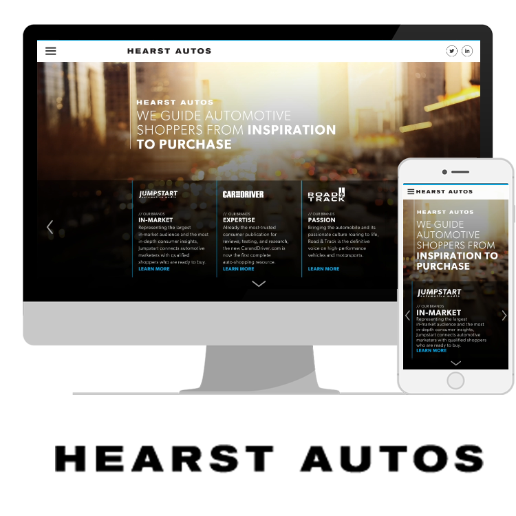 UI/UX DESIGN  HEARST autos // Jumpstart     VIEW PROJECT       >