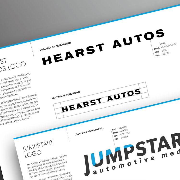 BRANDING // LOGO DESIGN  Hearst Autos // Jumpstart     VIEW PROJECT       >