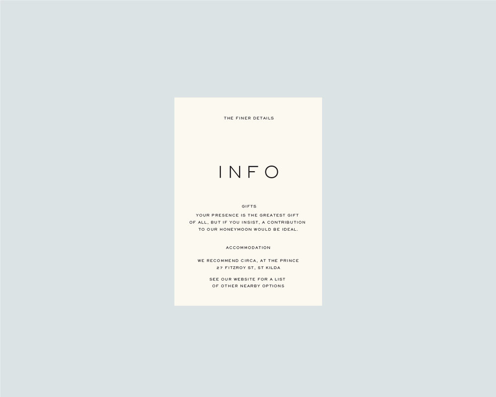 Information support card - A6