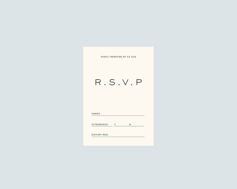 RSVP support. card - A6
