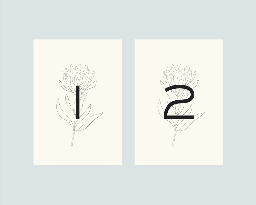 Table numbers - option 2