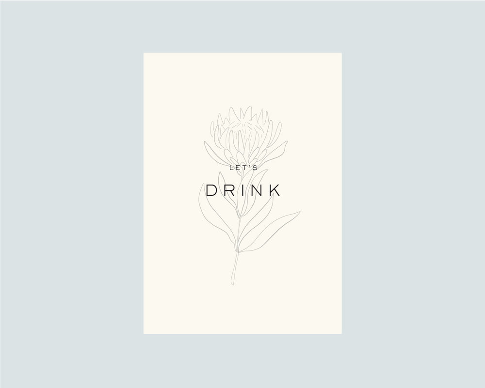 Drinks menu - front