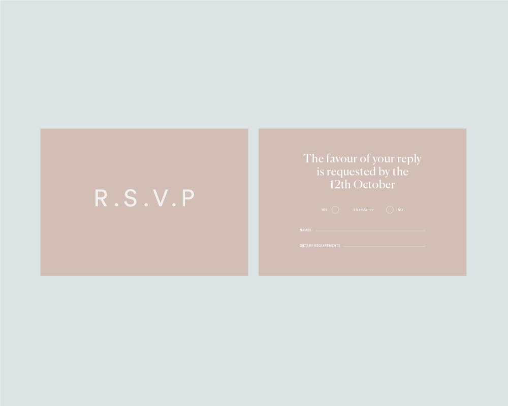 RSVP support card - A6