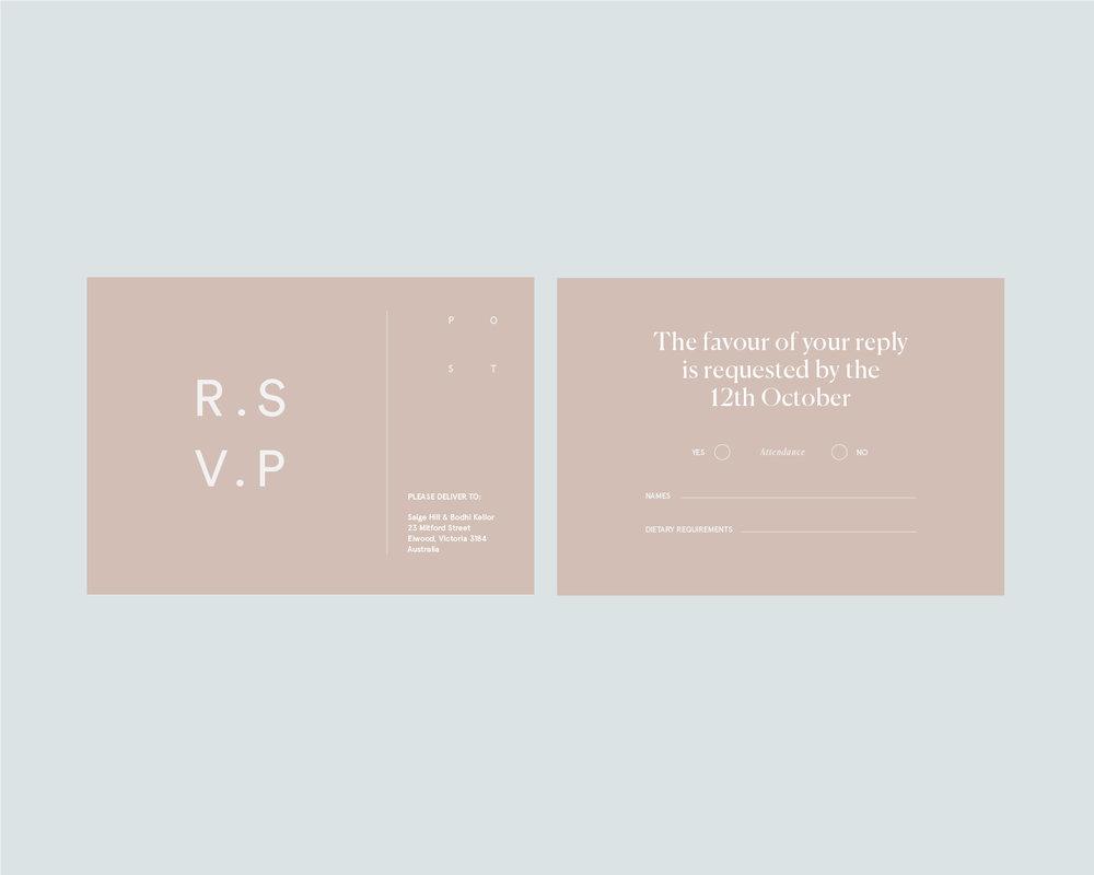 RSVP support postcard - A6
