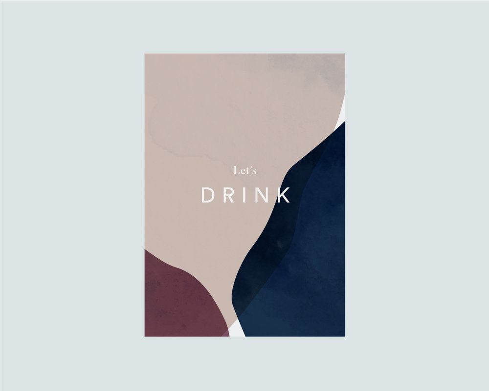 Drinks menu front - A5
