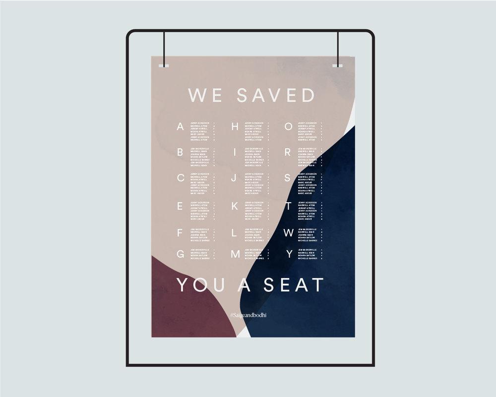 Seating chart - Option 1