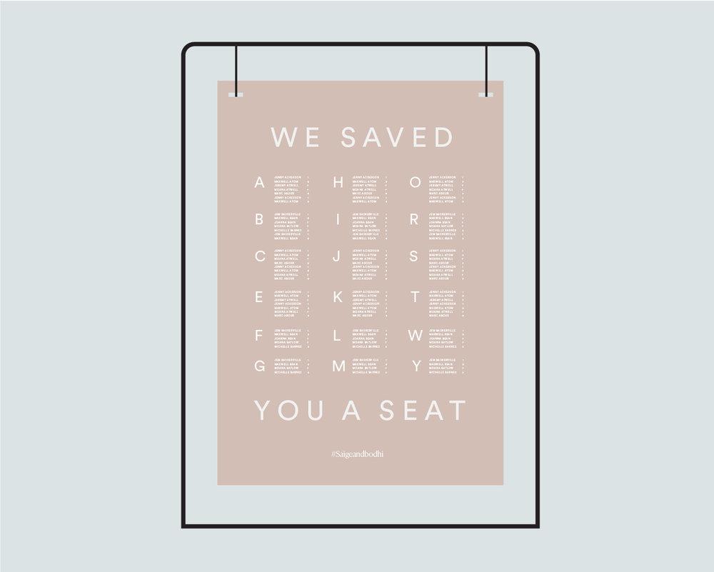 Seating chart - Option 2