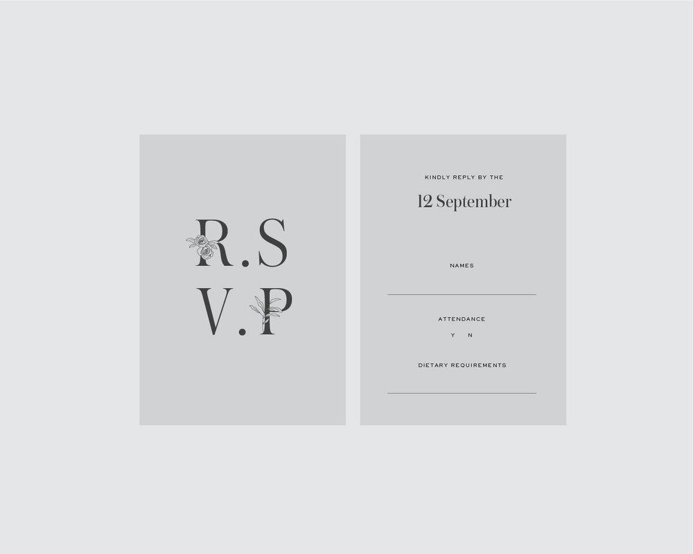 RSVP support card