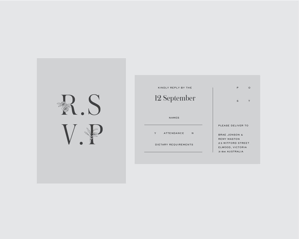 RSVP support postcard