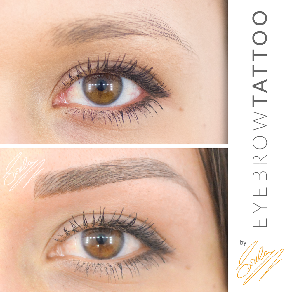 Eyebrows tattoo hair by hair beauty wallpaper for Eyebrow tattoo images