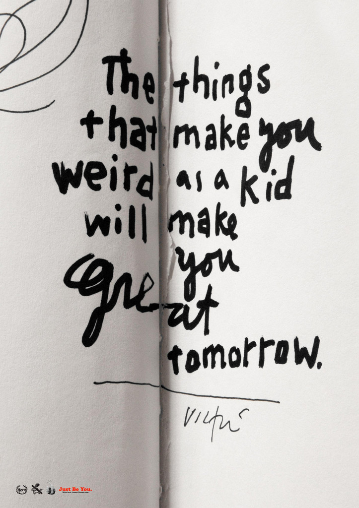""" Things That Make You Weird "" print by  James Victore"