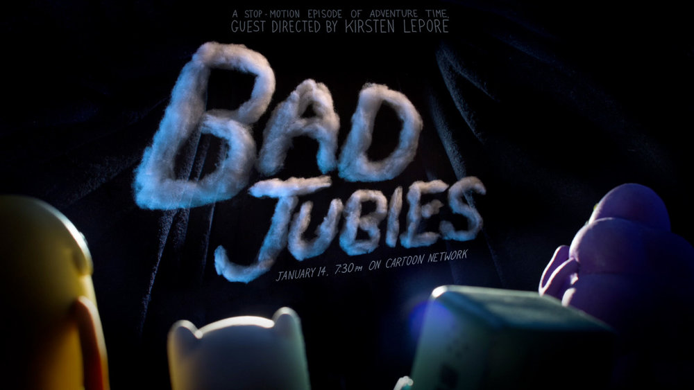 Title Card from Bad Jubies, Directed by Kirsten Lepore