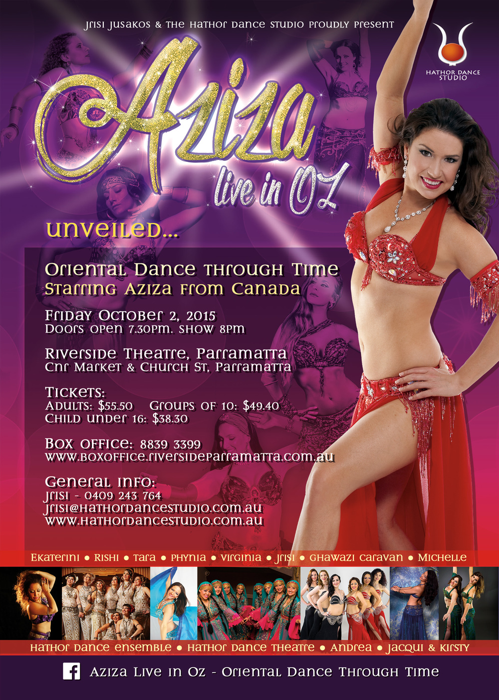 Aziza live in OZ, bellydance show, belly dance Austraila