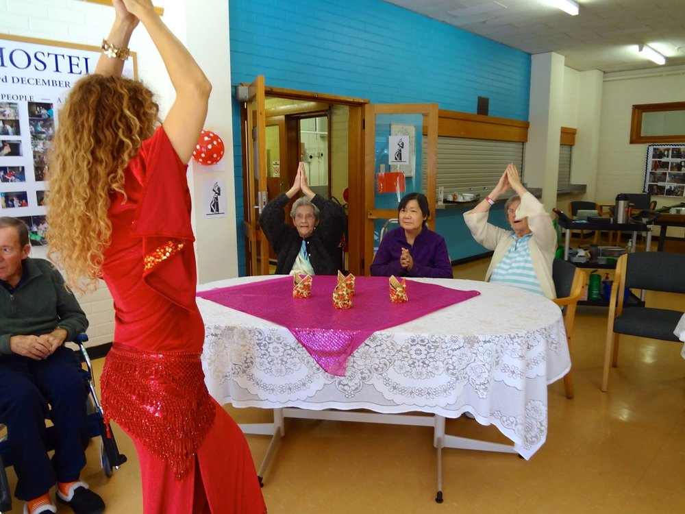 Belly Dancers Melbourne, belly dance Melbourne, aged care entertainer