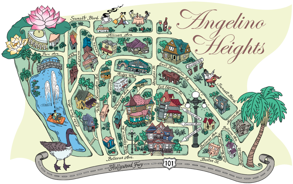 Angelino Heights Map