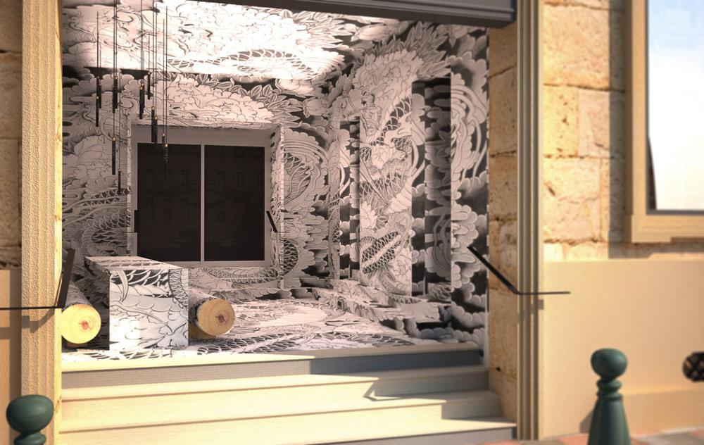 Restaurant ko vincent coste architecte saint tropez for Koi japonais aix en provence