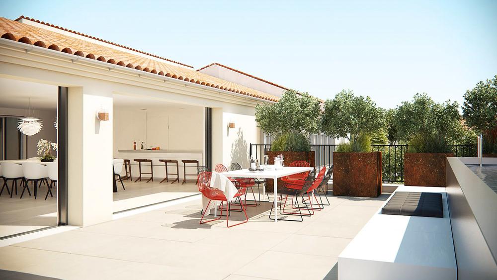 Proj logements b1 vincent coste architecte saint tropez for Architecte saint tropez