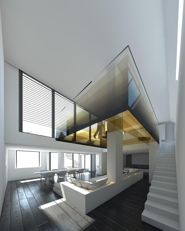 Projets vincent coste architecte for Appartement design bruxelles