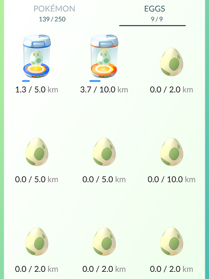 Pokémon Go eggs can give players very rare Pokémon — but they have to be walked several kilometres to hatch.