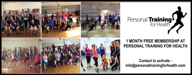 """💚1 month free membership at Personal Training for Health 1 month of classes  41 classes per week to choose from  16 different types of class  6am - 8pm  7 days a week  """"For a full fitness programme and rapid long term results""""   https://www.personaltrainingforhealth.com/"""