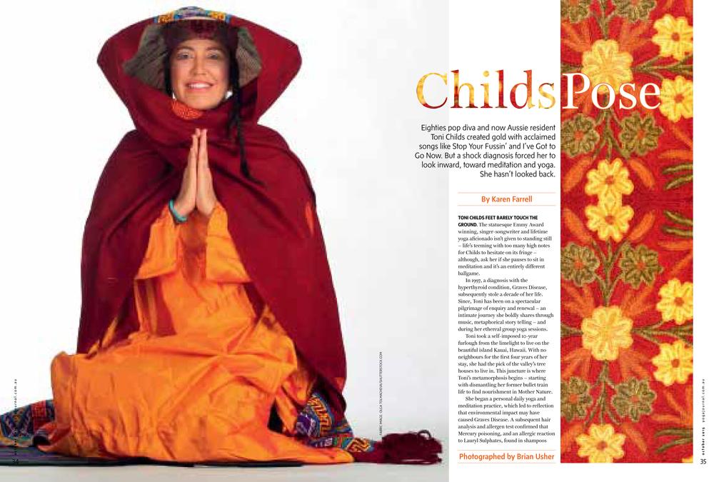 Australian Yoga Journal feature byKaren Farrell, Yoga Avenue