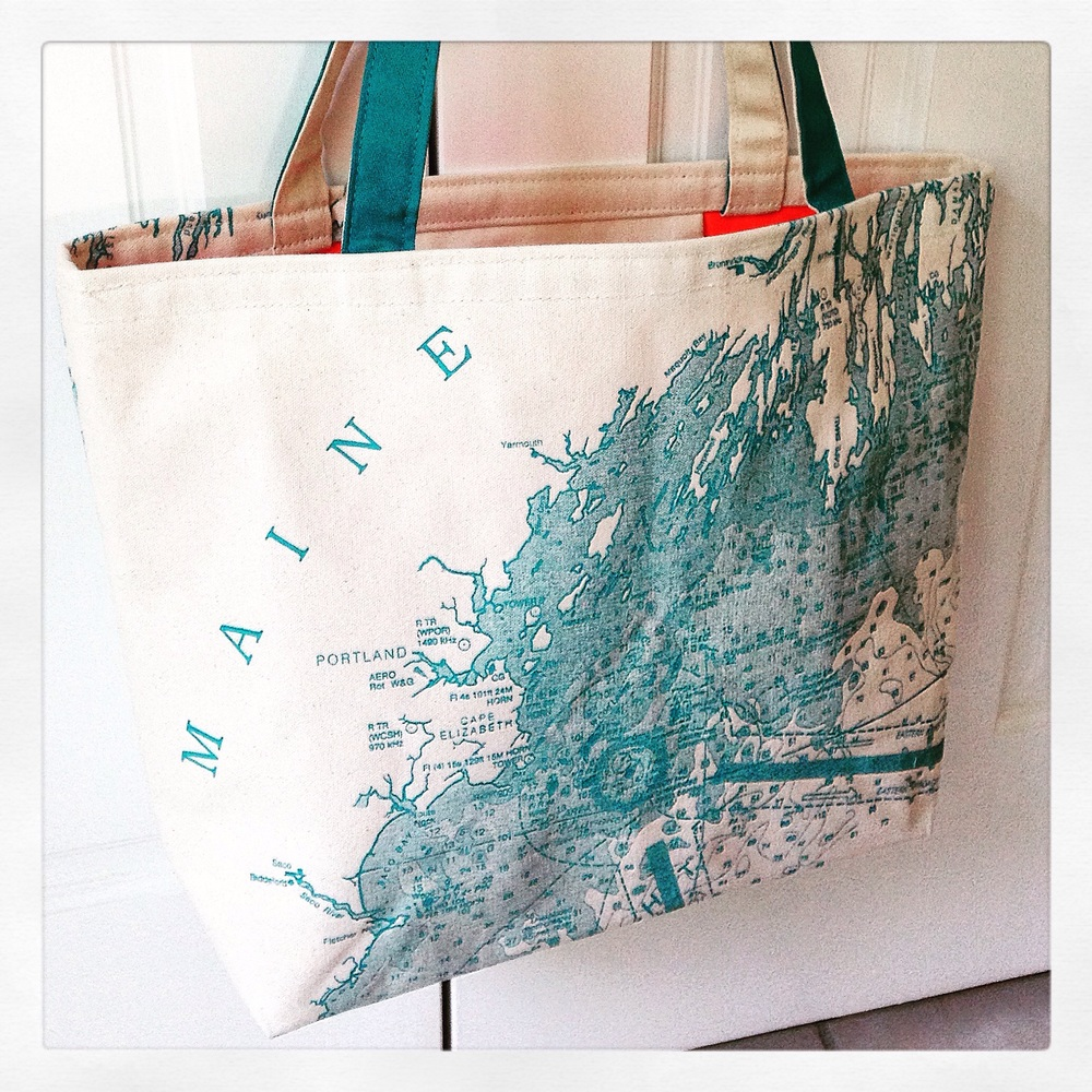 Turquoise Maine tote