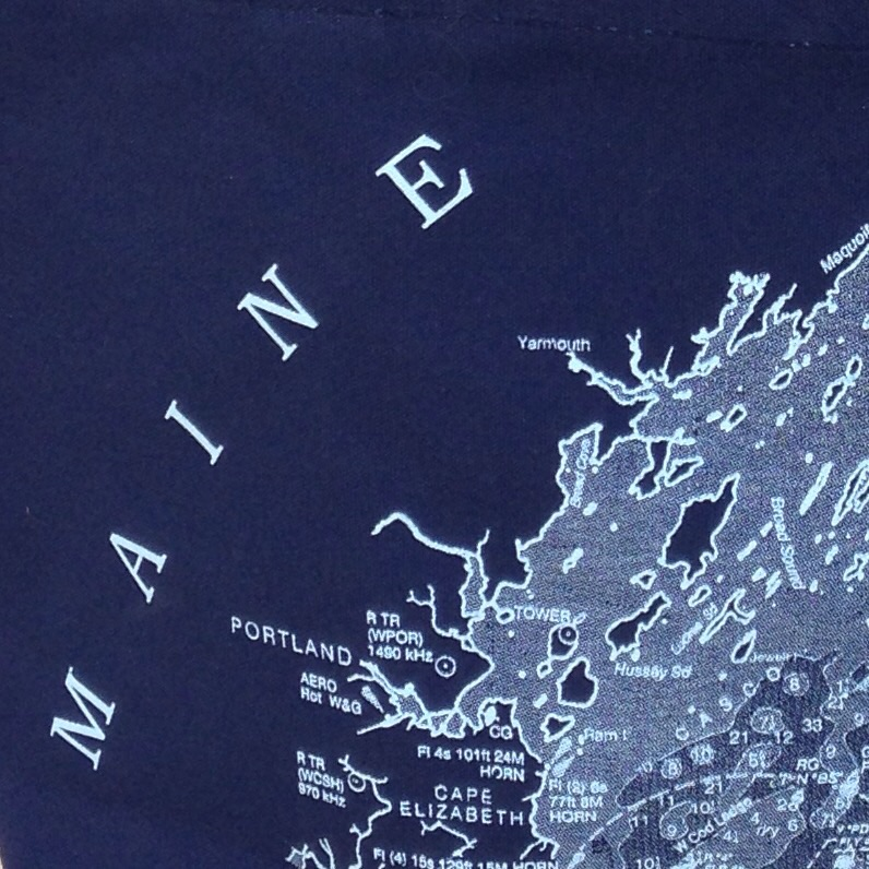 Close up of our new southern Maine insured tote