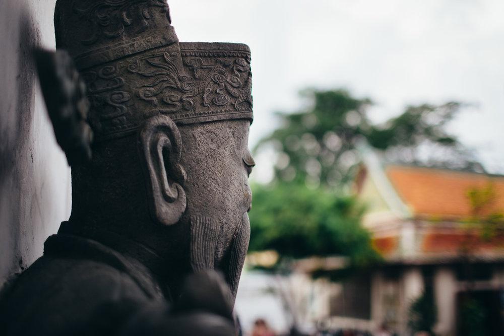 Thai warrior statue