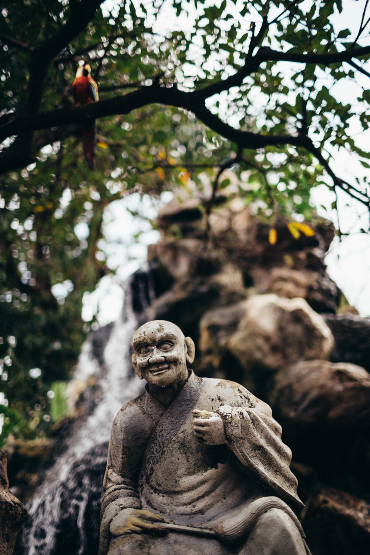 Statue of a buddhist monk