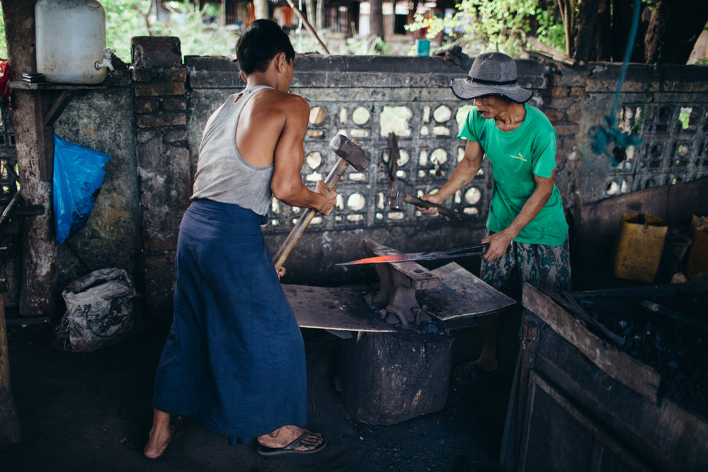 Burmese blacksmiths