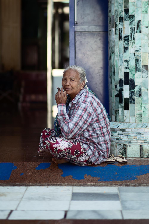 Burmese in the Mahamuni Pagoda