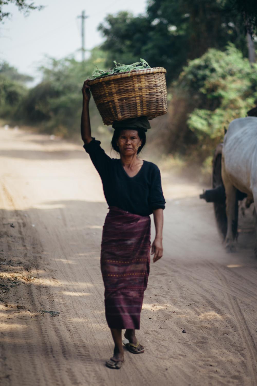 Working Burmese woman