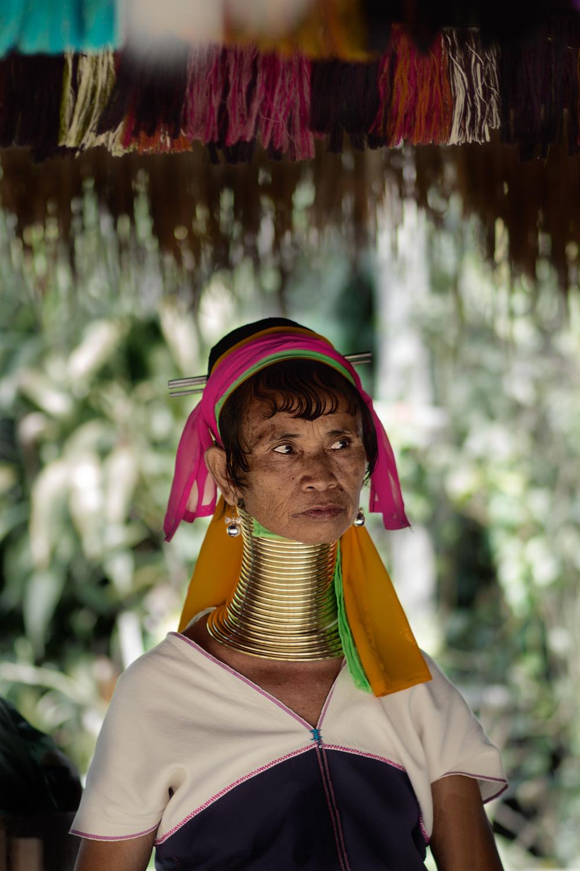 Woman of a kayan village