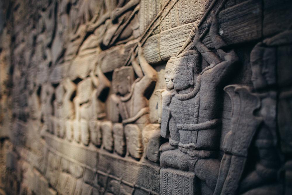 Bas-relief of Bayon