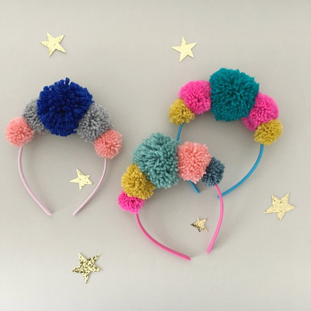 kids sewing party project pompoms.jpg