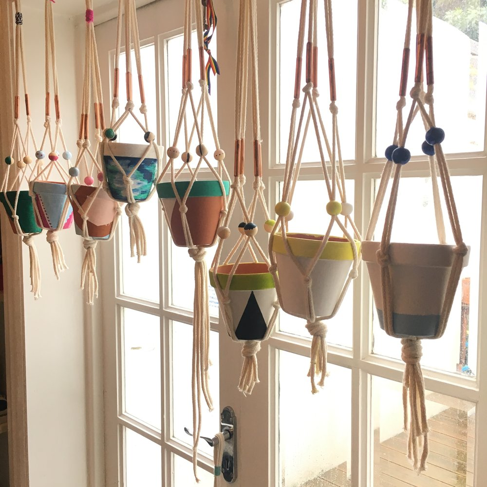 crafty hen party idea macrame
