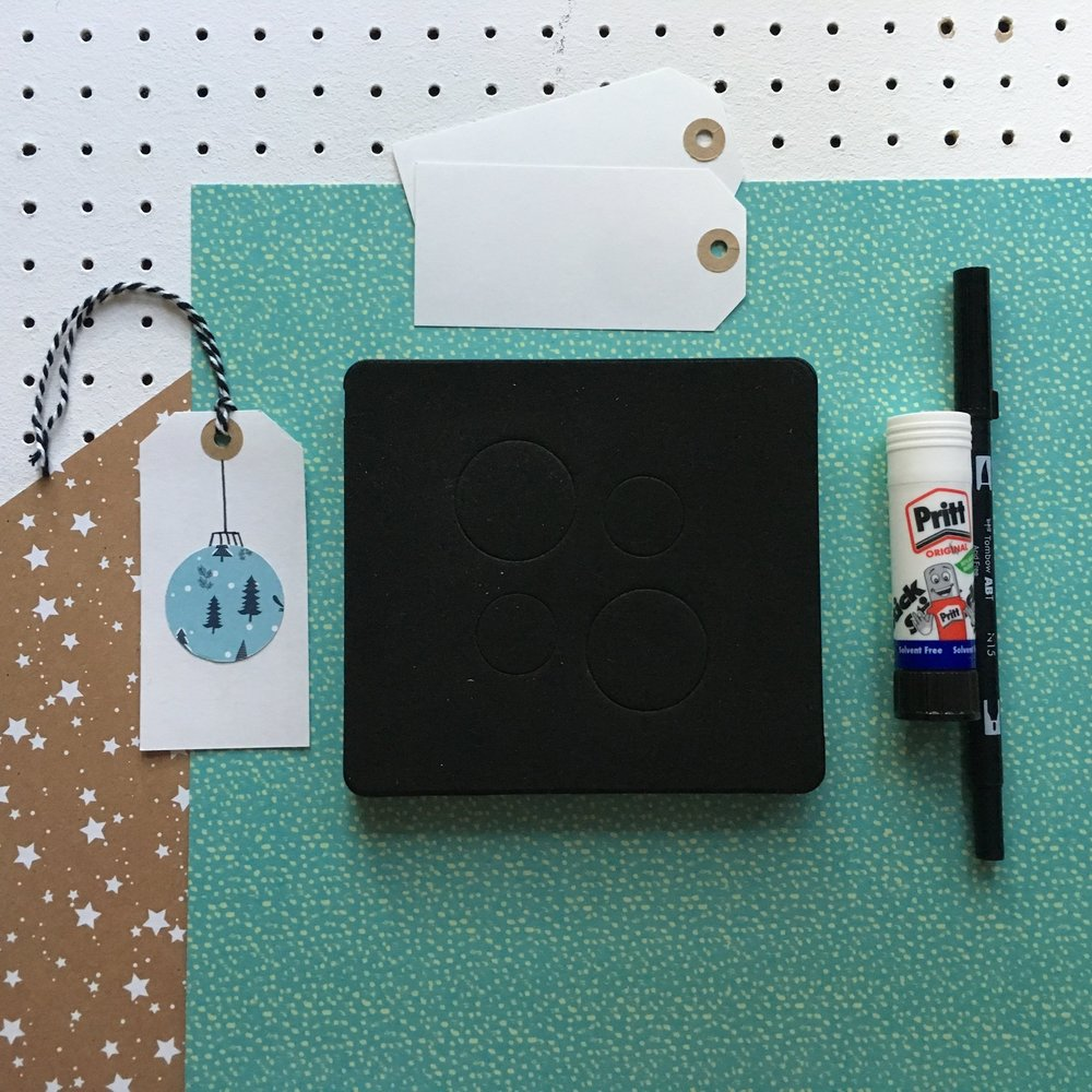 What you'll need to make simple Christmas gift tags