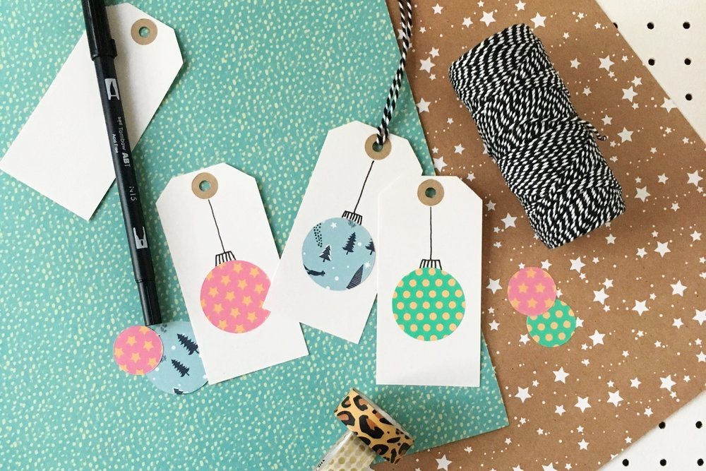 simple christmas handmade gift tags