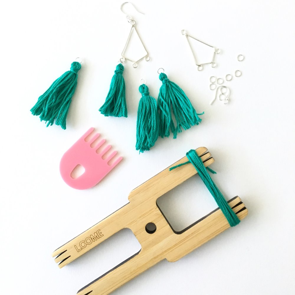 tassel earrings workshop urban makers