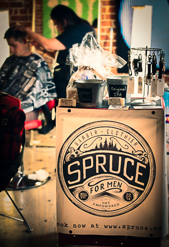 Spruce pop up event at Galvanize