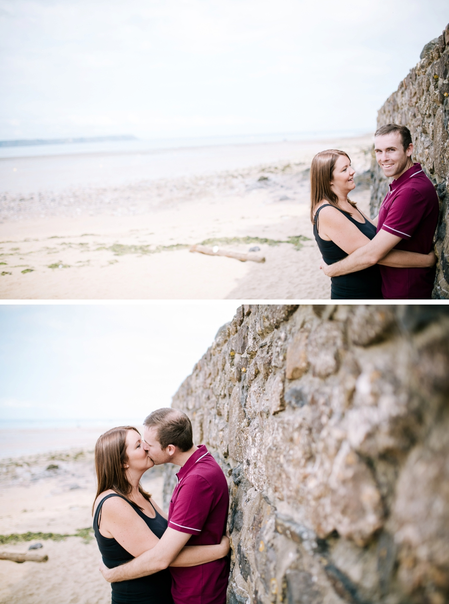 Somerset wedding photographer Gower coast engagement shoot Sarah and Andrew 1