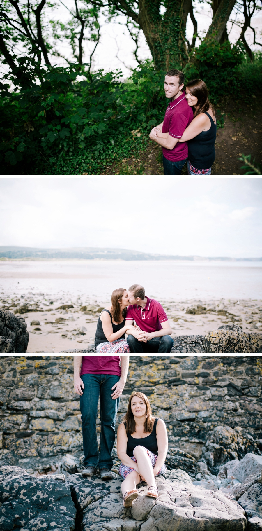 Somerset wedding photographer Gower coast engagement shoot Sarah and Andrew 5