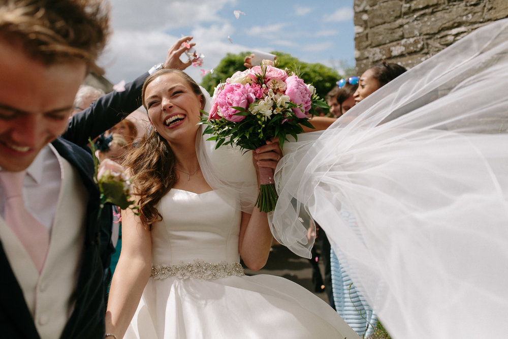 Somerset wedding photographer Dittisham Wedding Ella & Simon