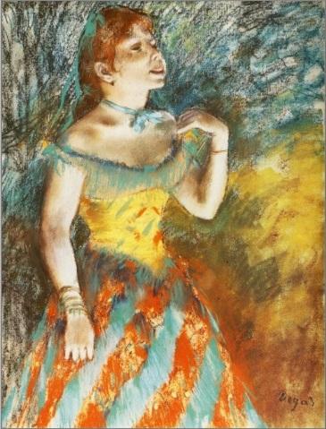Edgar G Degas - Chanteuse