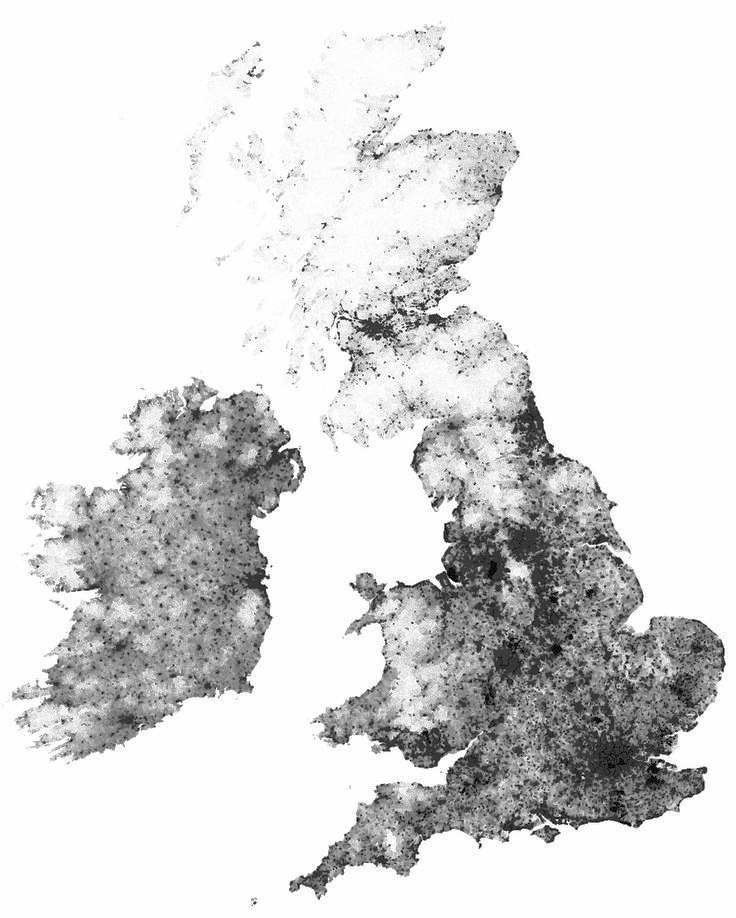 United Kingdom Dot Density Map  Image source: http://www.tekja.com/