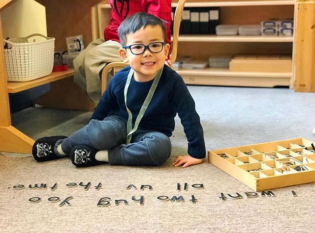 """Educating the mind without educating the heart is no education at all."" Aristotle #montessori #moveablealphabet #phonics #atlanta"