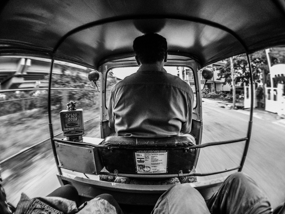 The infamous Bangalore auto ride. Shot on iPhone 6 with the IMVIO Wide lens.