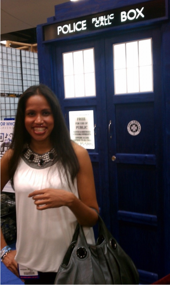 Visited the TARDIS! (And geeked out, clearly.)